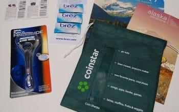Mailbox Freebies: Travel Alaska, Brez, Gillette Razor & Coin Sherpa