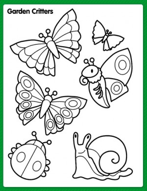 Free Printable Spring Coloring Activity Pages The Frugal Free Gal