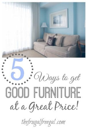 ways to get furniture at a great price