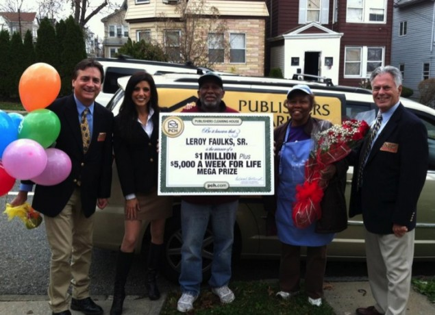 Thanks to Publishers Clearing House for sponsoring today's
