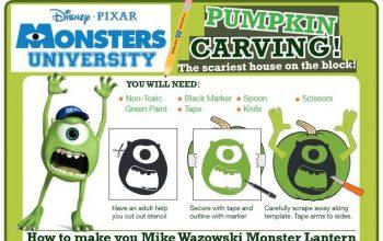 FREE Monsters University Halloween Printables!