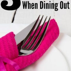 save when dining out