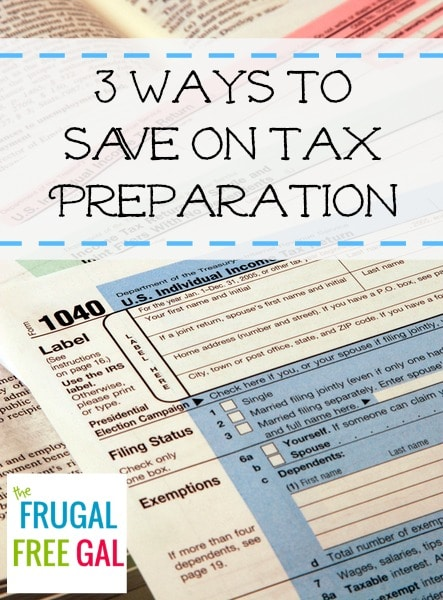 ways to save on tax preparation