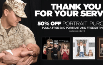 FREE 8×10 Wall Portrait for Military Members at JCPenney!
