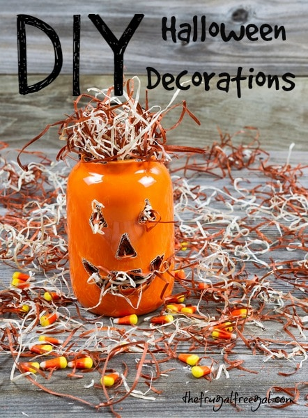 4 frighteningly cheap homemade halloween decorations the frugal free gal - Cheap and easy halloween decorations ...