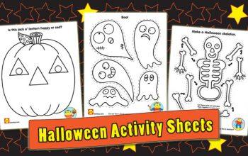 FREE Printable Halloween Activity Sheets!
