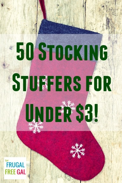 50 Stocking Stuffers for Under $3 Each