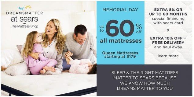 Sears Memorial Day Sale Huge Savings 5 Cash Back