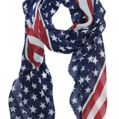 stars stripes scarf