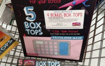 Clip Box Tops and Earn Cash For Your Child's School!