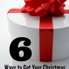 ways to get christmas shopping done early