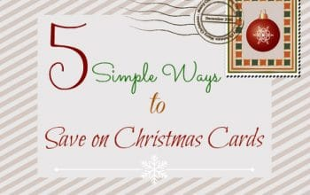 Five Simple Ways to Save on Christmas Cards