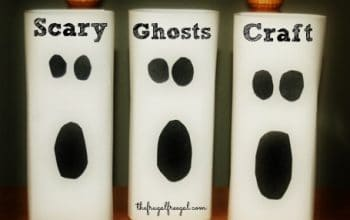 Scary Ghosts Halloween Craft