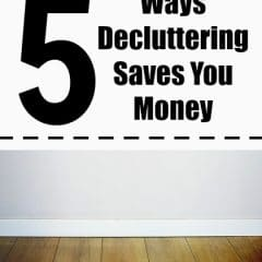 decluttering saves money