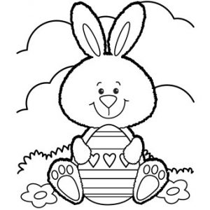 Free Printable Easter Bunny Coloring Page | The Frugal Free Gal