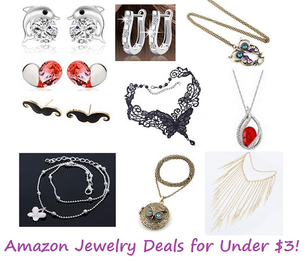 amazon jewelry deals for under 3 the frugal free gal