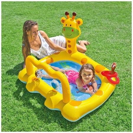 Smiley Giraffe Inflatable Baby Pool