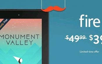 Fire Tablet, 7″ Display, Wi-Fi, 8 GB only $39.99!