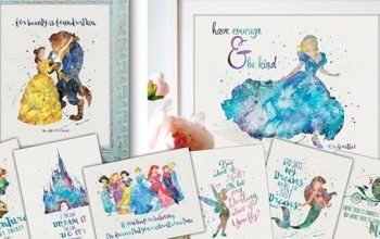 11×14 Disney Character Inspired Watercolor Prints Only $3.38! (reg $10)
