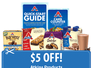 FREE Atkins Diet Kit + $5 Off Product Coupon
