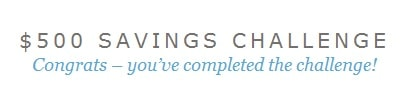 500 savings challenge