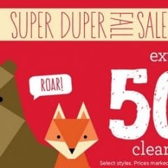 super duper fall sale