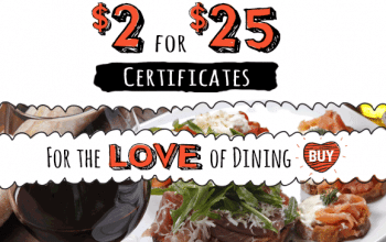 $25 Restaurant.com Gift Certificate Only $2.00!