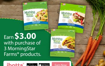Earn $3 w/Purchase of 3 MorningStar Farms® Products at Walmart!