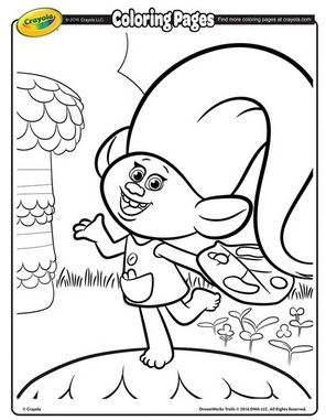 free printable dreamworks trolls coloring pages - Trolls Coloring Pages