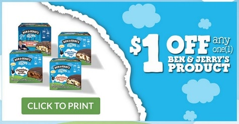 $1.00 off any one (1) Ben & Jerry's Product at Walmart + Get a $5 Walmart Gift Card w/purchase!