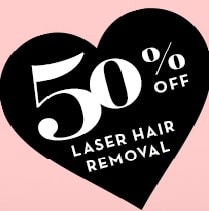 50% off Laser Hair Removal