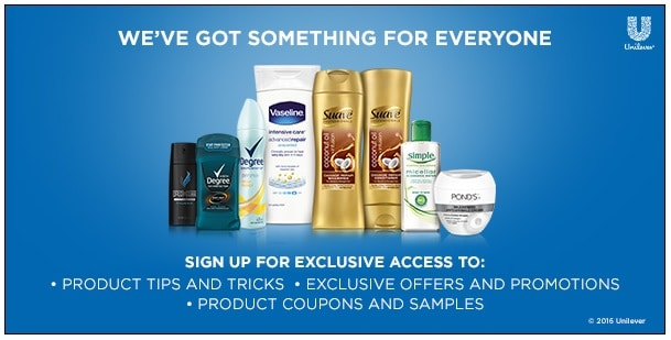 FREE Unilever Samples & Coupons