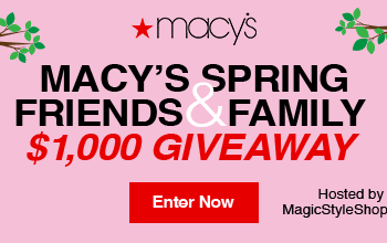 Enter to Win a $50 Macy's Gift Card! (20 winners)