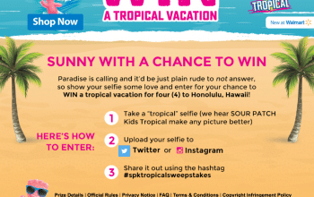 Sour Patch Kids Tropical Sweepstakes – Enter for a Chance to Win a Tropical Vacation! (Ends 5/31)