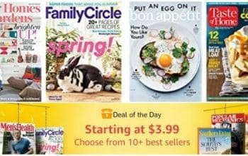 Amazon Deal of the Day: $3.99 Magazine Sale