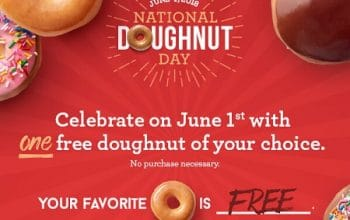 FREE Doughnuts at Krispy Kreme on June 1st!