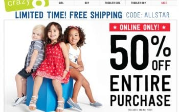 Free Shipping at Crazy8 (Ends 5/30) – Up to 80% off Must-See Markdowns + $6 Tank Dresses