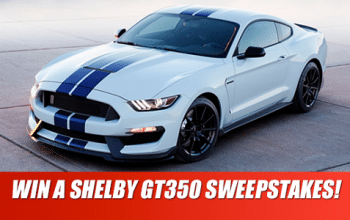2017 Shelby GT350 Sweepstakes (ends 6/19)
