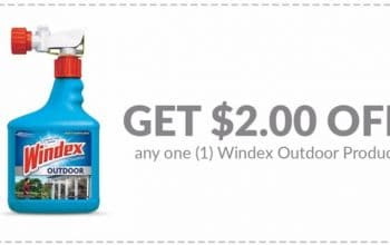 $2 off any one Windex Outdoor Product