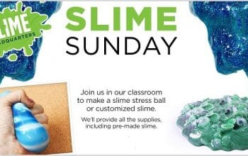 FREE Slime Craft at Michael's on 8/6