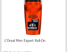 FREE L'Oreal Men Roll-On Deodorant (sign up now!)