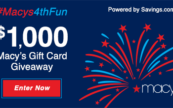 Enter to Win a $50 Macy's Gift Card! (20 winners) + 4th of July Sale at Macy's!