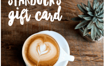 $150 Starbucks Gift Card Giveaway (Ends 7/24)