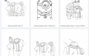 Free Printable Despicable Me 3 Coloring Pages