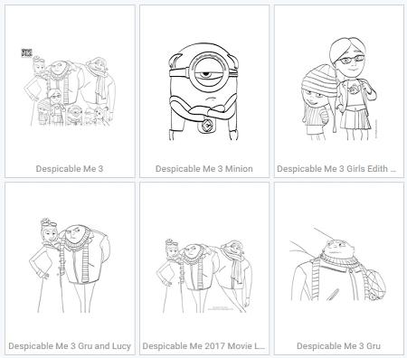 despicable me 3 coloring pages pdf
