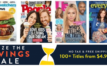 DiscountMags: 100+ Magazines from $4.95 per Year!