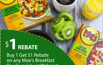 Earn $1 Cash Back When You Purchase Any Moe's Breakfast Bowl Variety at Walmart