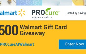 #PROcureAtWalmart Giveaway – $50 Walmart Gift Cards – 10 Winners (Ends 8/8)