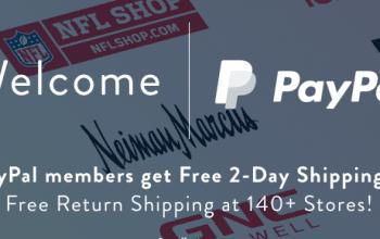 FREE 2-year ShopRunner Membership for PayPal Members!