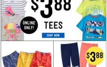 $3.88 Tees and $8 Dresses at Crazy8 + FREE Shipping!